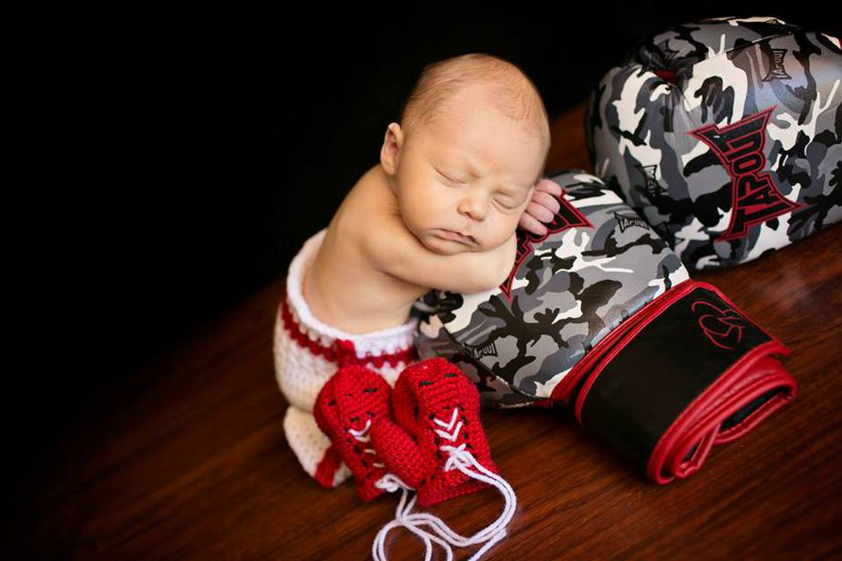 Boxer Baby Crochet Outfit by Briana K Designs