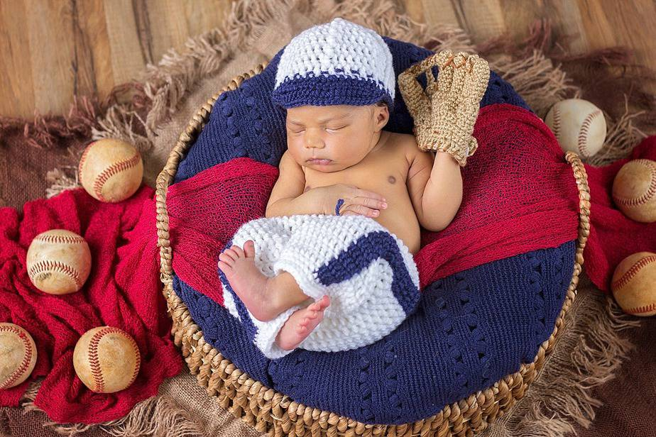 Baseball Newborn Crochet Outfit by Briana K Designs