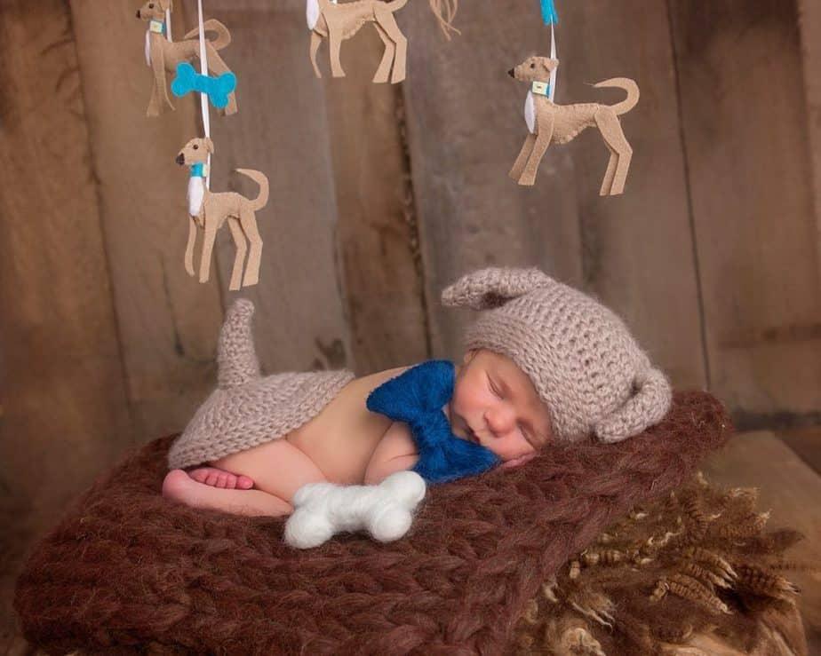 Puppy Dog Crochet Newborn Outfit by Briana K Designs