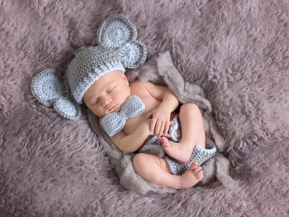 Elephant Baby Hat and Diaper Cover by Briana K Designs