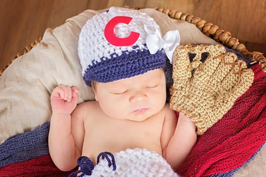 Baseball Newborn Crochet Outfit by Briana K Designs