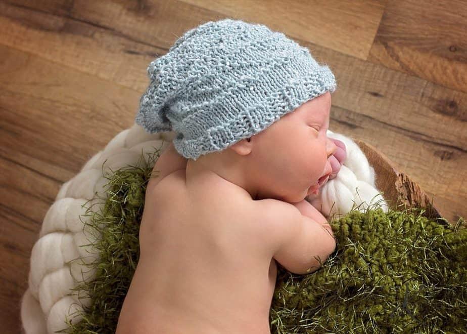 Newborn Knit Slouchy Hat by Briana K Designs