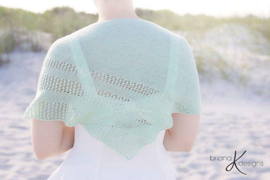 Light Summer Knit Shawl Wrap by Briana K Designs