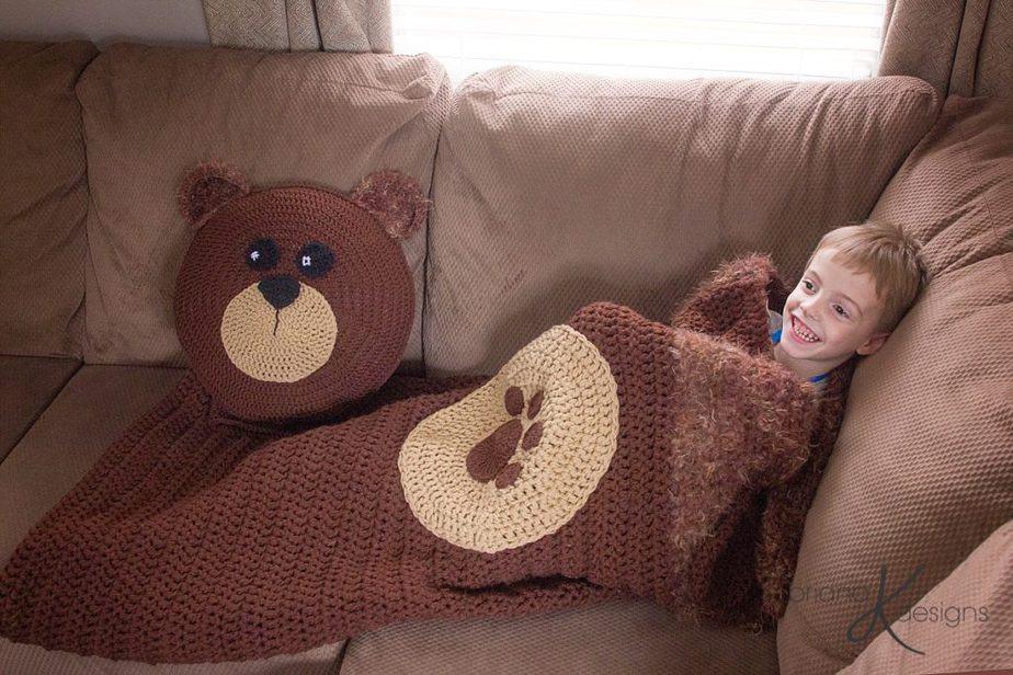 Bear Crochet Sleeping Bag by Briana K Designs
