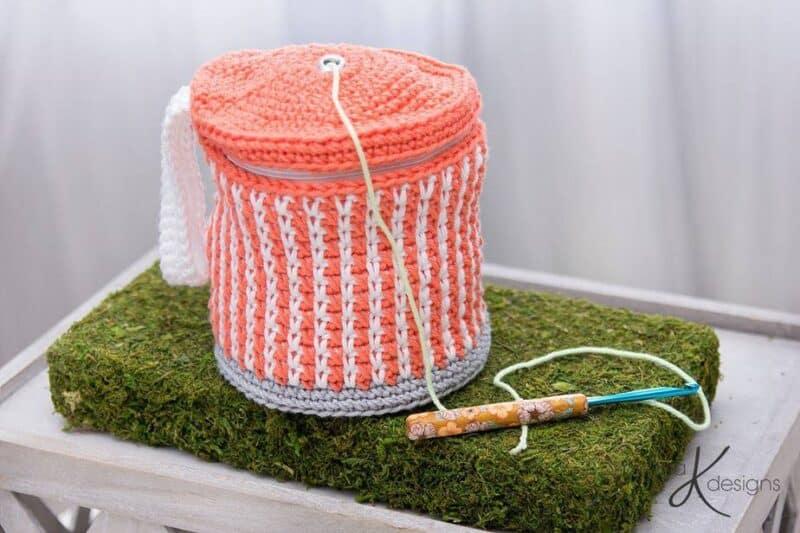 Cake Crochet Yarn Project Bag by Briana K Designs