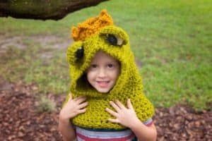 Frog Prince Crochet Hooded Cowl by Briana K Designs