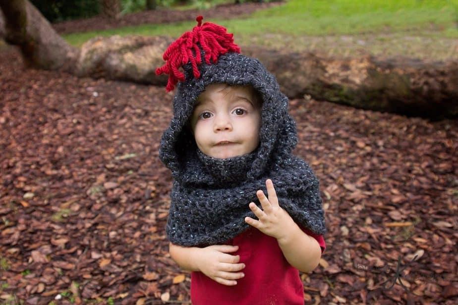 Knight Crochet Hooded Cowl by Briana K Designs