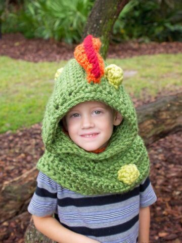 Dragon Crochet Hooded Cowl by Briana K Designs