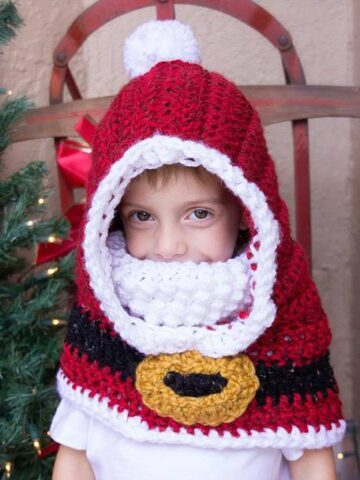 Santa Hooded Crochet Cowl by Briana K Designs