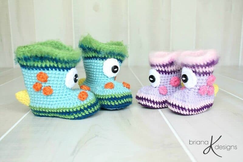 Monster Crochet Boots by Briana K Designs