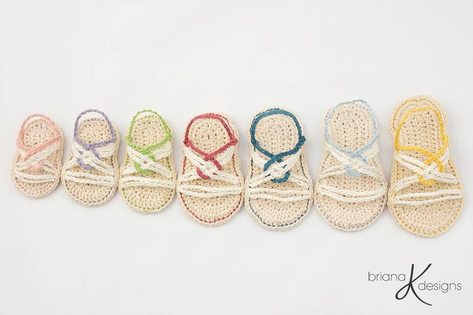 Infinity Crochet Sandals by Briana K Designs