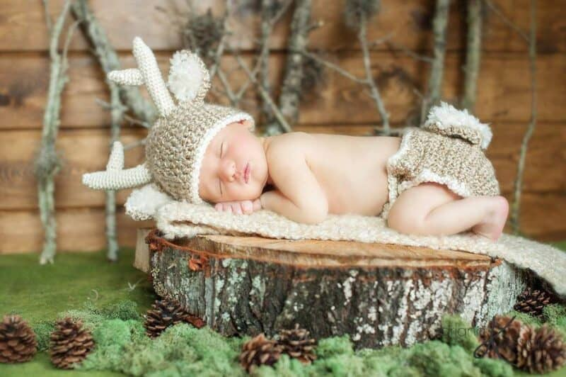 White Tail Deer Crochet Outfit by Briana K Designs