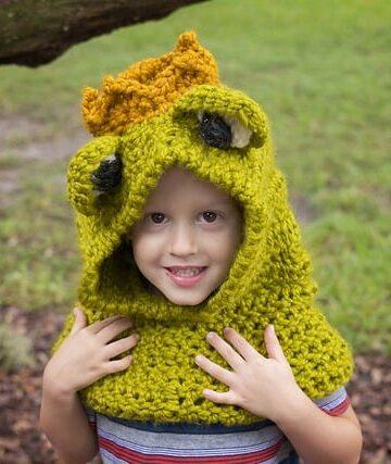 Frog Prince Hooded Cowl
