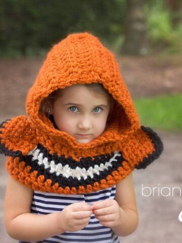 Clown fish hooded cowl