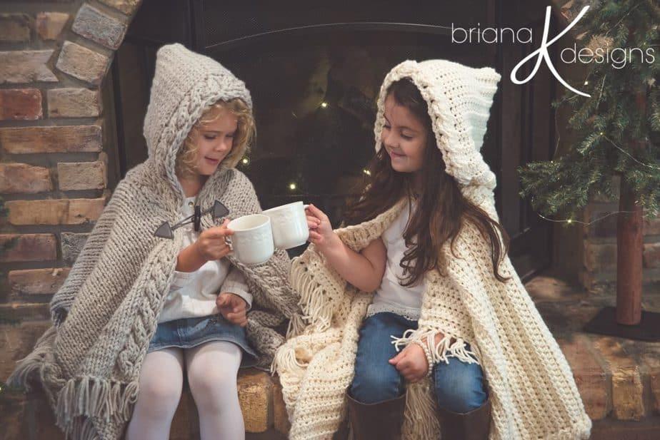 Nordic Winter Crochet Cape
