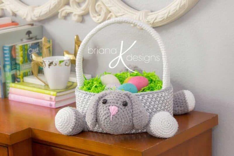 Bunny Easter Basket Crochet
