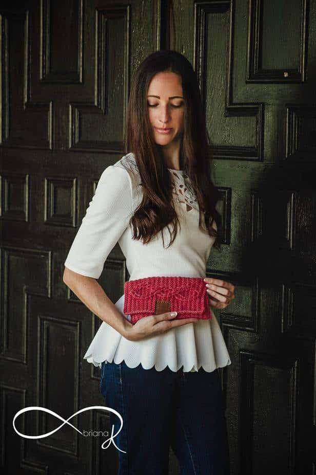 Aisling Infinity Crochet Clutch