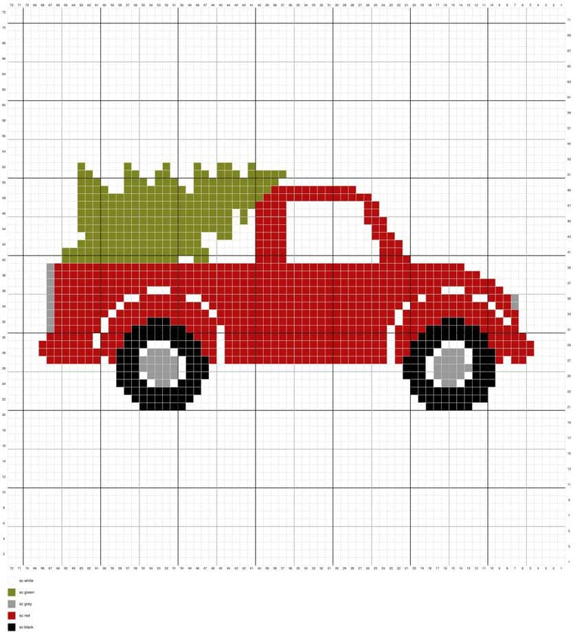 Christmas Truck Pillow Cover