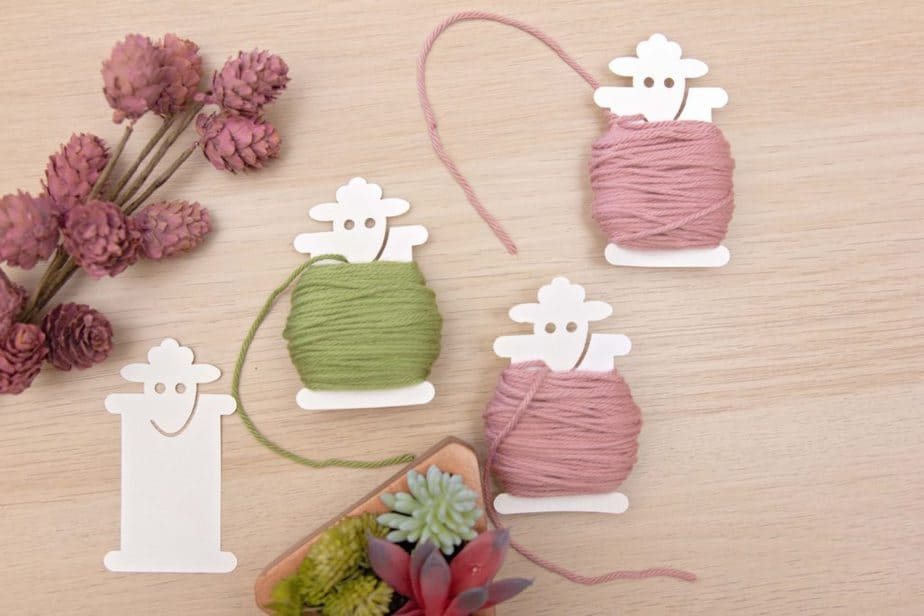 Colorwork Crochet Sheep Bobbin