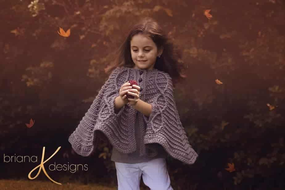 Children's Infinity Cape Jacket pattern by Briana K Designs