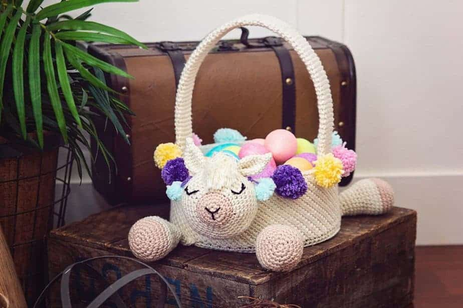 Llama Easter Basket by Briana K Designs