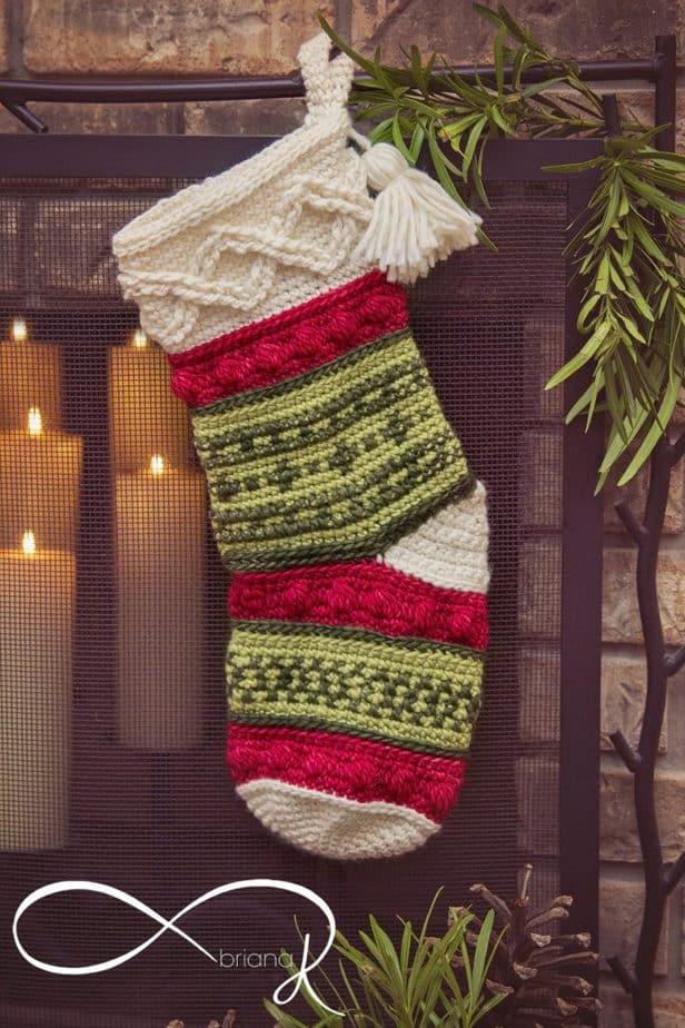 Infinity Crochet Noel Stocking