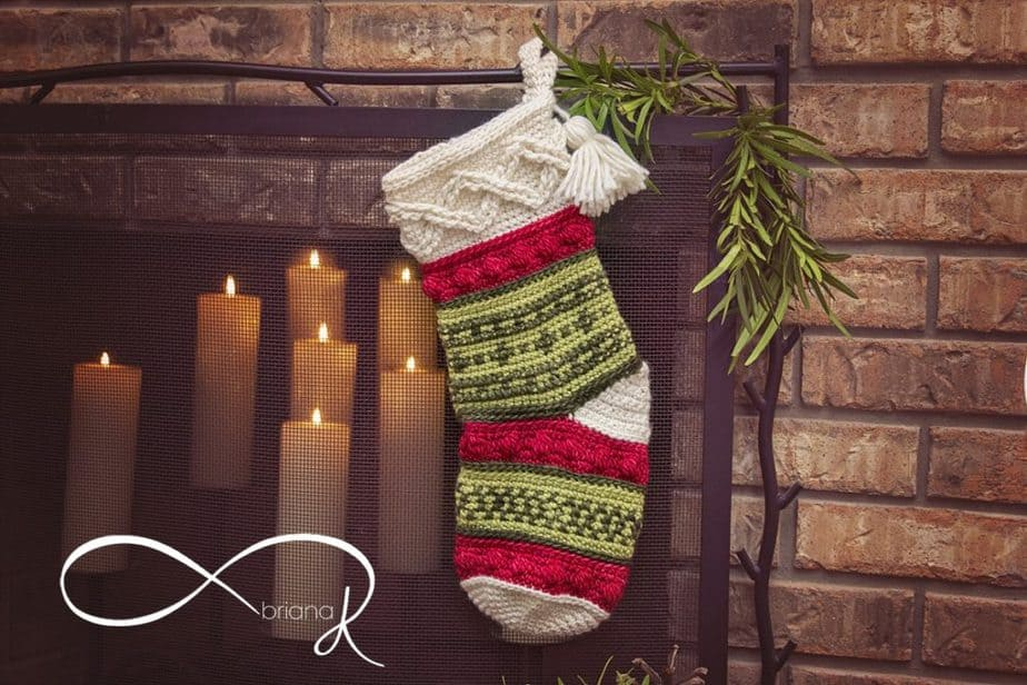 Infinity Crochet Noel Stocking