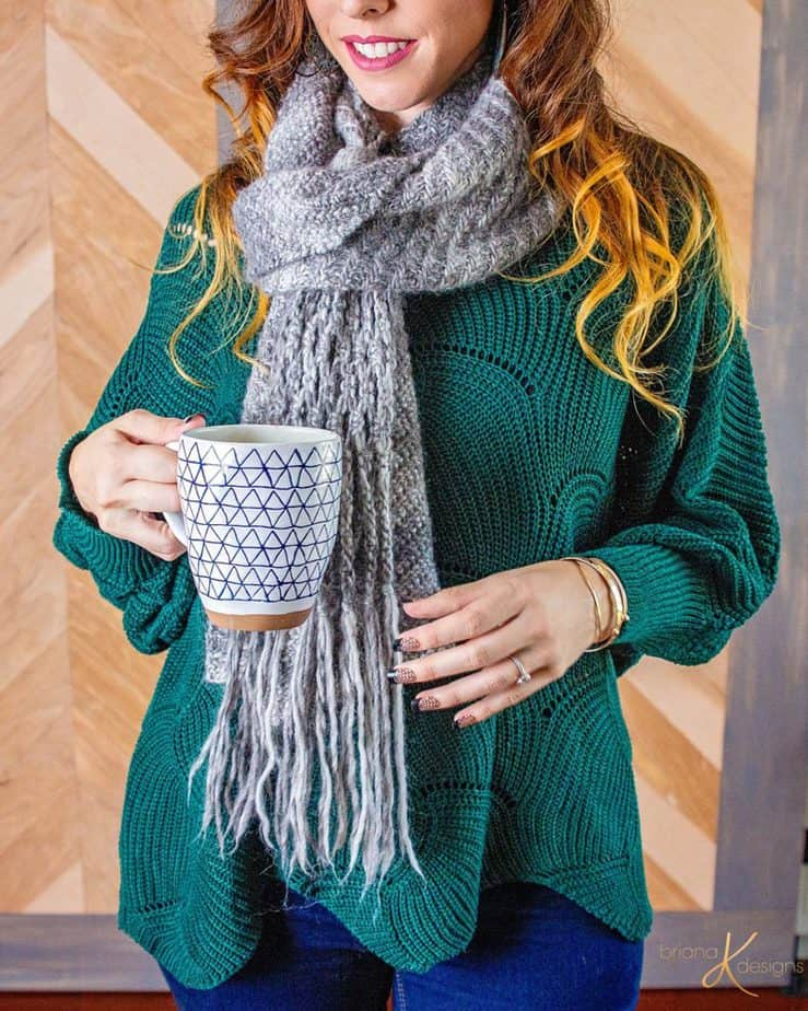 Boho Macrame Knit Wrap by Briana K Designs