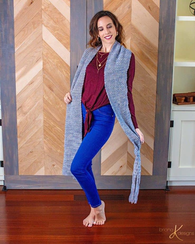 Boho Macrame Crochet Wrap by Briana K Designs