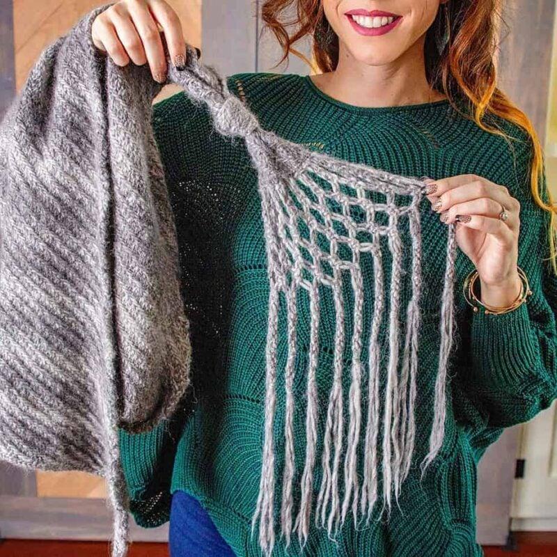 Boho Knit Macrame Wrap Pattern