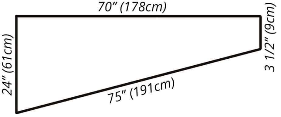 Boho Macrame Wrap Knit measurements