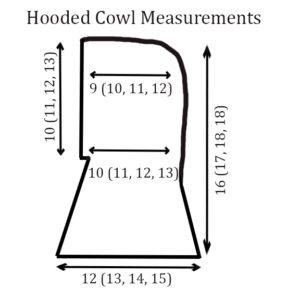 cowl measurements