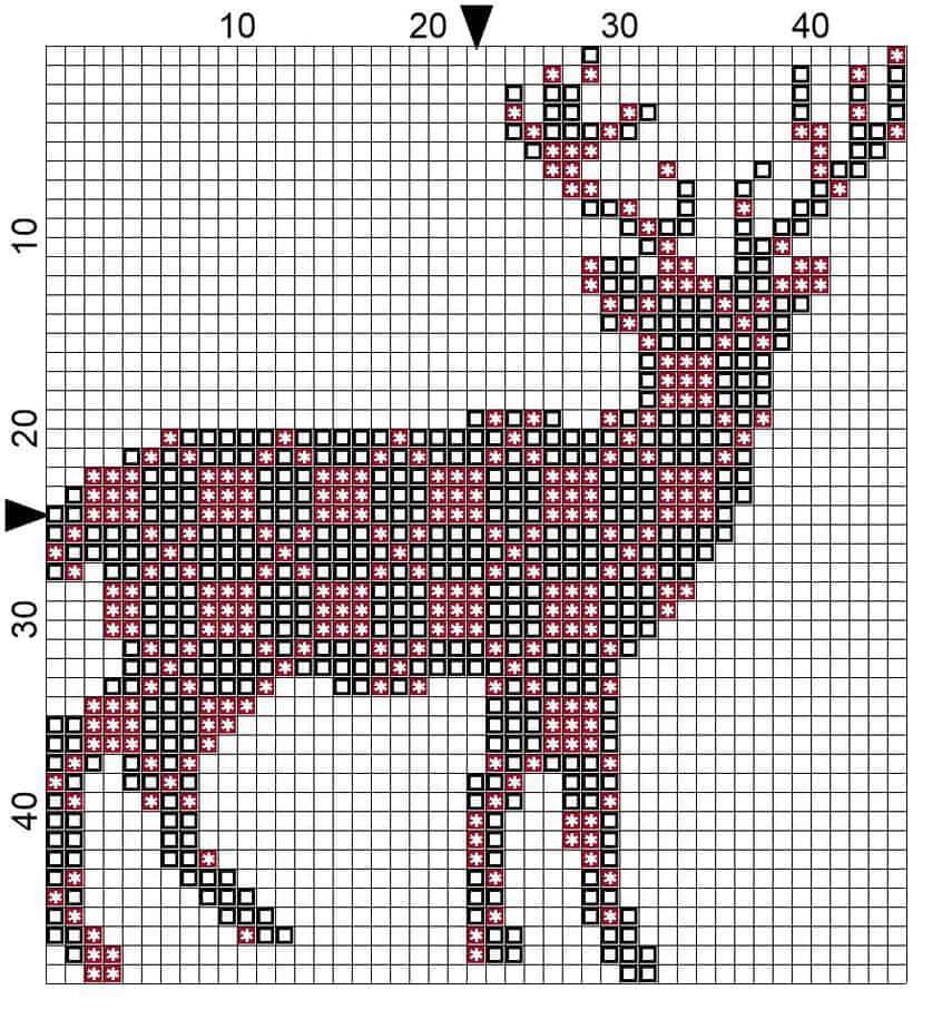 Deer Plaid Ornament Blocks and Symbols