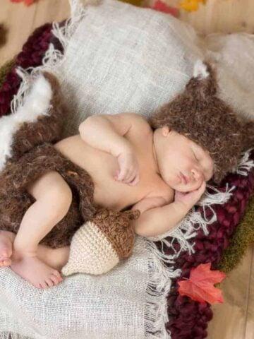 squirrel newborn crochet outfit