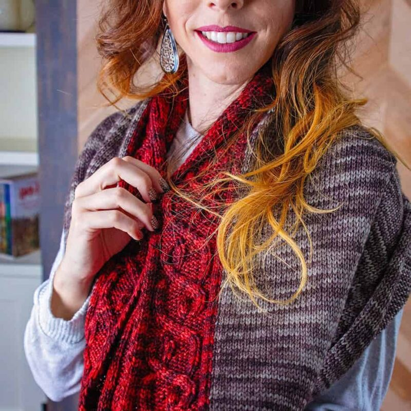 traveling vine shawl knit pattern