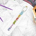 Beekle Cross Stitch Bookmark