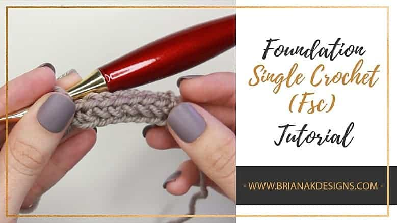 Foundation Single Crochet