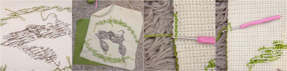 Attaching crochet pillow Panels Together