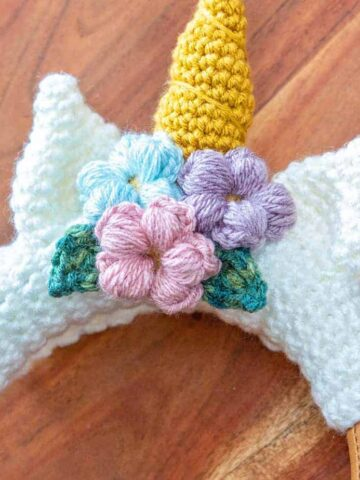 how to puff stitch crochet flower