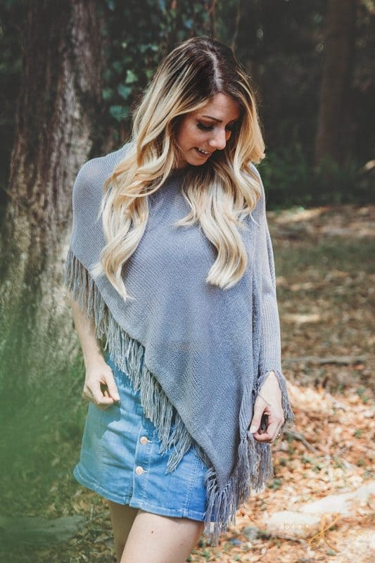 Knit Beginner Lace Weight Poncho Pattern