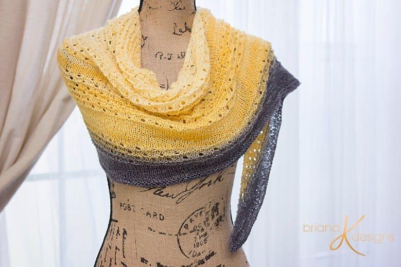 Dawn to Dusk Knit Shawl by Briana K Designs