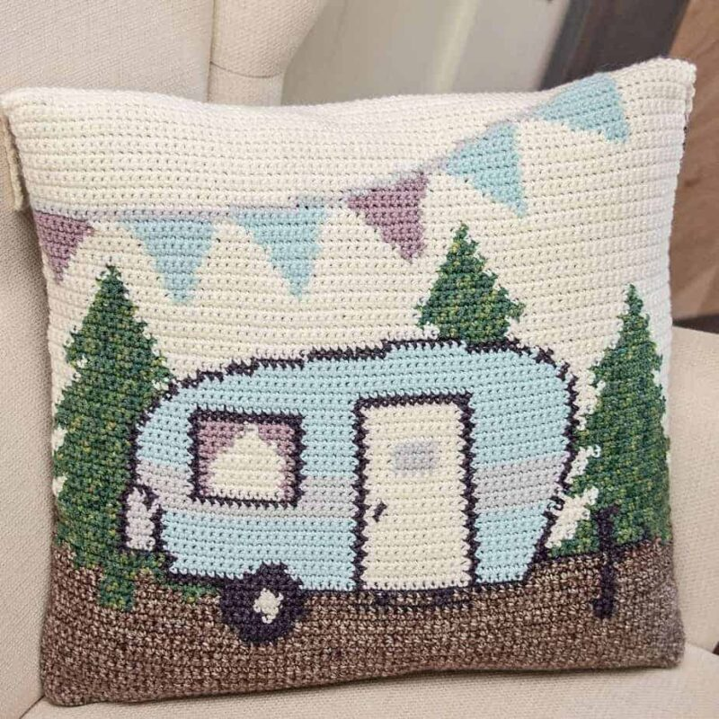 camper pillow crochet pattern