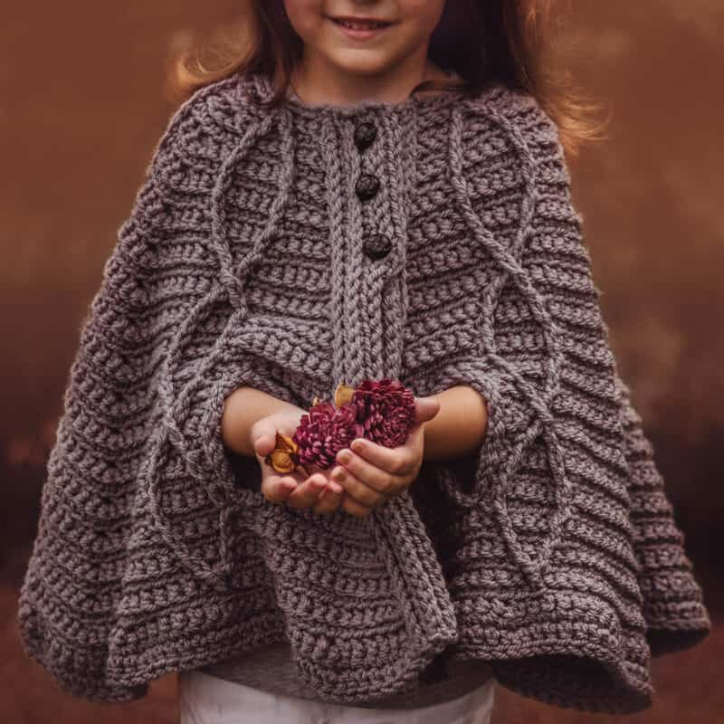 children's infinity cape jacket crochet pattern