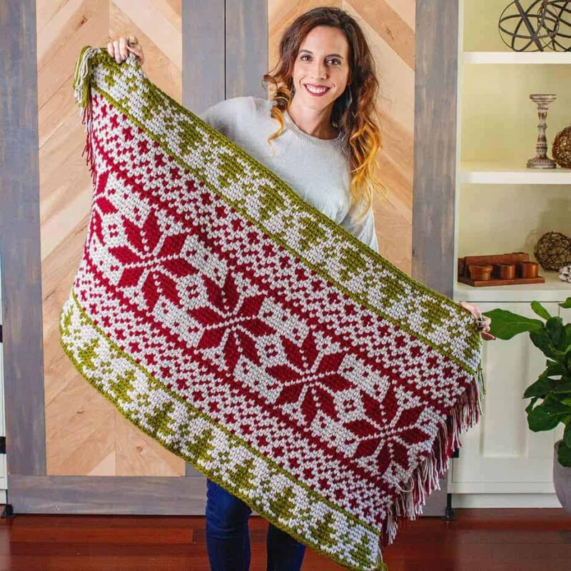 christmas rug fair ilse crochet pattern