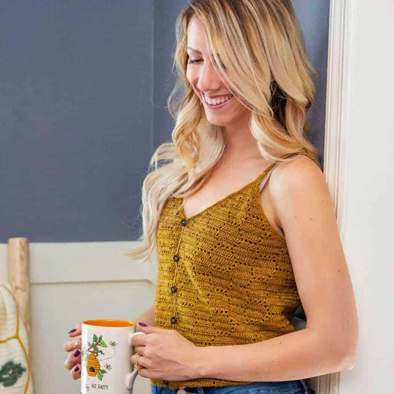 honeycomb crochet tank top pattern