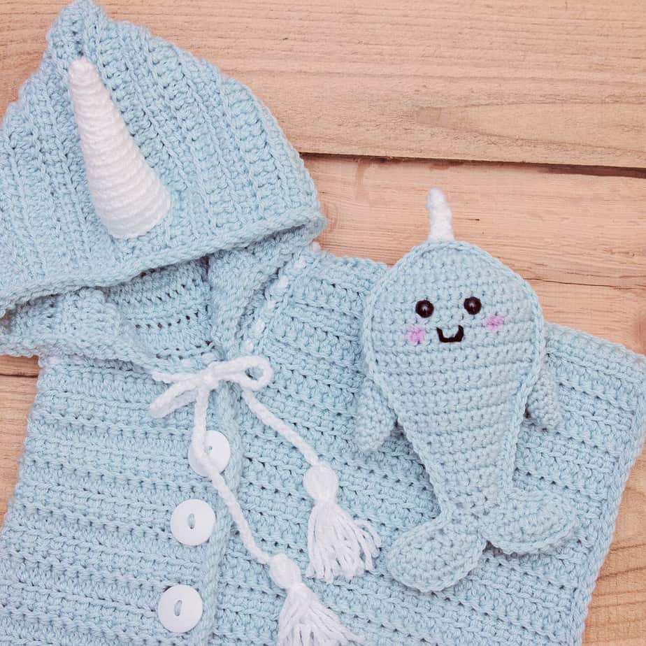narwhal crochet poncho pattern
