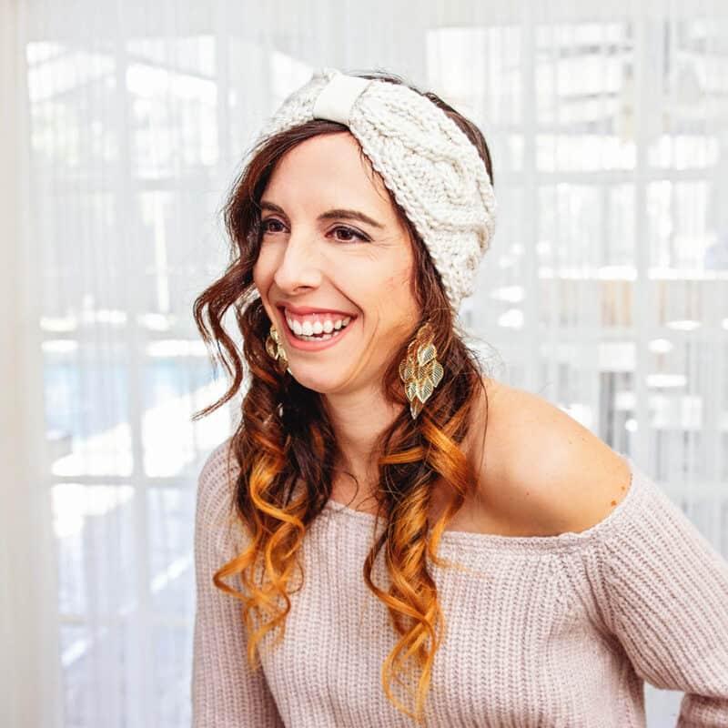 vine earwarmer knit pattern