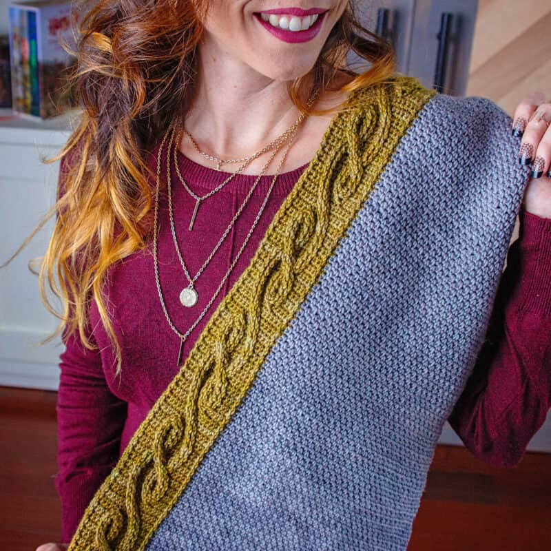 vine shawl crochet pattern