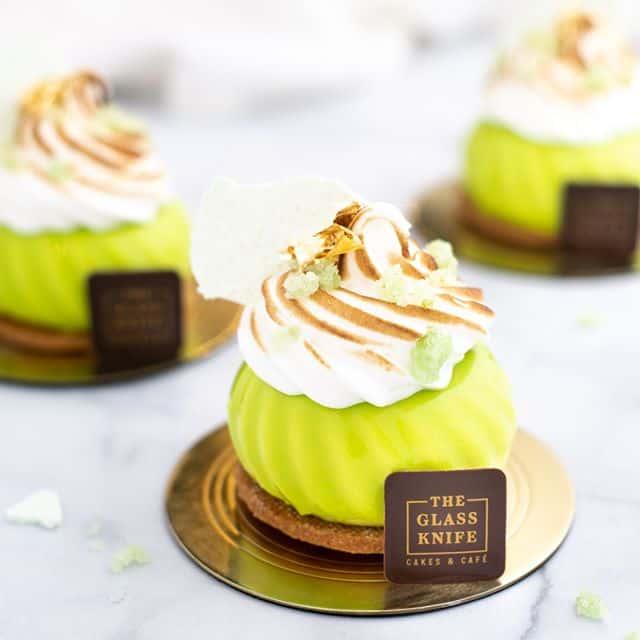 Glass Knife Key Lime Dessert