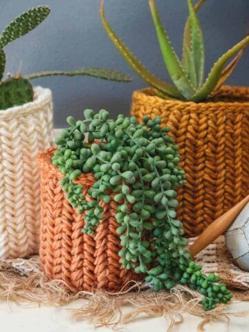 Herringbone Crochet Basket Stitch